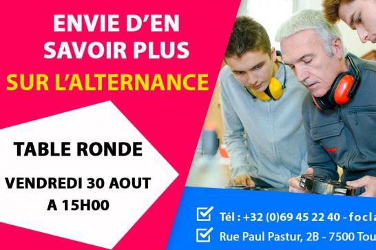 Actualité table ronde alternance Tournai 30-08-19